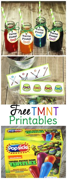 Use these free TMNT printables and Ninja Turtle party ideas to throw an epic birthday party or playdate!