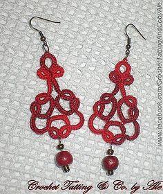 Orecchini al chiacchierino - earrings created in tatting needle - uncinetto