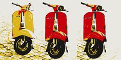 Typical Italian Vespa, pop art style