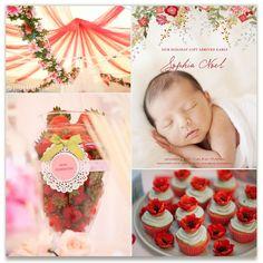 Secret Garden Baby Inspiration Board, curated by Britt Clendenen at Minted
