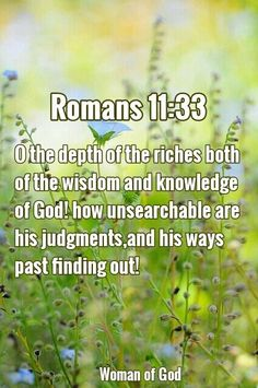 Day 18 - KNOWLEDGE: Oh, the depth of the riches and wisdom and knowledge of God! How unsearchable are his judgments and how inscrutable his ways! Romans Bible Verse, Bible Verses, Lenten Season, Perfect Love, God First, Godly Woman, Heavens, Inspiring Quotes, Prayers