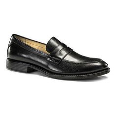 46ccfe0e04e Men s Dockers Manchester Penny Loafer Black Burnished Full Grain Leather