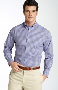 Button down collars on shirts are fall fashion favorites. The buttoned look is professional & stylish for business casual wear. Order online with confidence.