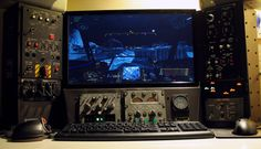 Desktop Mechwarrior Cockpit - PC Gaming Battle Station via Reddit user karmicviolence