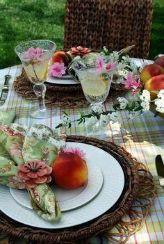 idée de décoration de table pour l'été