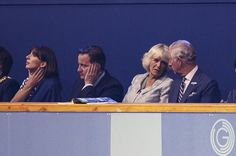 Although it looks like it was a long day for David Cameron and Prince Charles. | The 28 Most Important Pictures From The Commonwealth Games Opening Ceremony