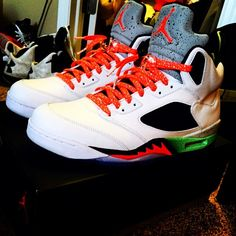 buy popular 24648 f8fd5 Infrared Cement Shoelaces. Jordan 5Michael ...