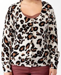Leopard Print Cardigan   FOREVER21 PLUS - 2000028923