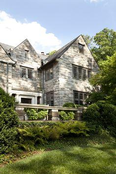 Boxwood terrace for Atlanta residence by Howard Design Studio.