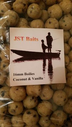 My boyfriends successful homemade boilies. First labeled bag. JST BAITS.