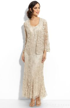Unique A-line Scoop Floor-length Long Sleeve Mother of the Bride Dress at Storedress.com