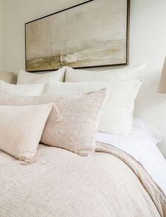 Dream Bedroom, Home Bedroom, Master Bedroom, Bedroom Decor, Bedrooms, Apartment Decoration, Big Pillows, Throw Pillows, Bedroom Inspo