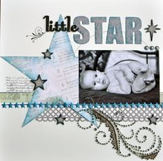 Little Star - Scrapbook.com - #scrapbooking #layouts #baby #timholtz #provocraft #advantus