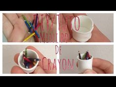 how to: miniature pencils and cup