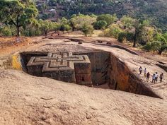 Monolithic Rock-cut Church Of Bete Giyorgis, Lalibela, Ethiopia Addis Abeba, New Jerusalem, Holy Land, 12th Century, Pilgrimage, The Rock, Archaeology, Africa, Country Roads