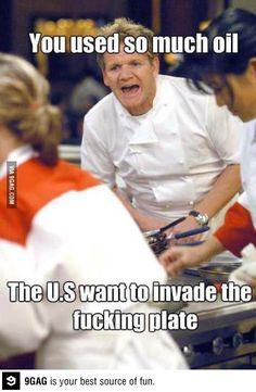 Vc usa tanto olho que o Estados Unidos está planejando invadir o seu prato