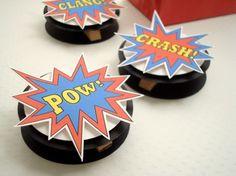 SuperHero Favor Bag Toppers, (12) Reserved for Diegosnina via Etsy