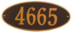 Oval One-Line Petite Wall Address Plaque - petite/one line, Oil Rubbed Bronze by Home Decorators Collection. $55.00. Oval One-Line Petite Wall Address Plaque - This Premium, Textured And Dimensional Address Plaque Is Designed With Large Numbers For Maximum Visibility. Choose From Our Exceptional Array Of Custom Address Plaques To Find The House Sign That Reflects The Personality Of Your Distinctive Home. Whatever Your Selection, Feel Confident That Your House Sign Will Stand...