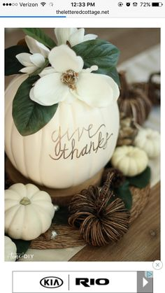 44 Easy and Practical DIY Fall Decor Ideas. To create a fantastic fall decoration you will need a brilliant idea and some unusual elements. If you wish to save a few of these fabulous DIY fall decor i. Thanksgiving Centerpieces, Thanksgiving Crafts, Fall Crafts, Decor Crafts, Holiday Crafts, Thanksgiving Table, Table Centerpieces, Fall Table Decorations, Thanksgiving Celebration