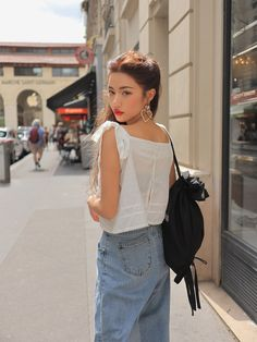 Ulzzang - Fashion - Beauty - Kpop I do NOT post pictures of myself! The girls' names are always in the tags! Korean Fashion Trends, Korean Street Fashion, Asian Fashion, Pop Fashion, Girl Fashion, Fashion Outfits, Summer Outfits, Cute Outfits, Ulzzang Fashion