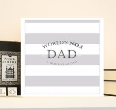 Luxury Fathers day card in a Preppy Classic by AugustandGrace