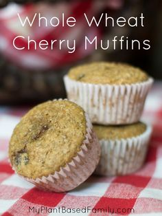 Whole Wheat Cherry Muffins are plant-based and oil-free. These healthy muffins will thrill your family with their simplicity.