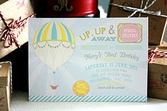 hot air balloon party {styling by Kiss Me Kate, printables by Anders Ruff}