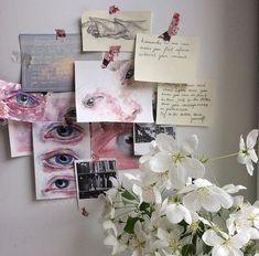 Art Hoe Aesthetic, Aesthetic Bedroom, Art Sketches, Art Drawings, Arte Sketchbook, Wall Collage, Diy Art, Cute Art, Art Inspo