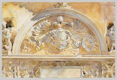 John Singer Sargent – Escutcheon of Charles V of Spain, 1912; Watercolor, 12x18 in | The Metropolitan Museum of Art