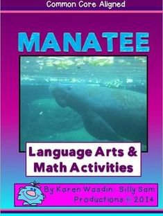 MANATEES!! Introduce your students to these gentle animals.     Included: 8 or More LA and Math Activities                  Photos of Manatees                  Bulletin Board Project Idea, Patterns and Photos                  Nouns, Verbs and Adjectives Activity                  Reading Comprehension                  Writing Sentences using the                         Nouns, Verbs and Adjectives***Go the the Save the Manatee Club for research, games and to learn how your class and each stude...