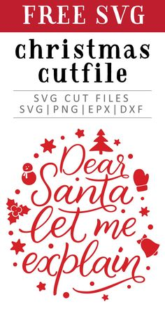 Free Dear Santa SVG, PNG, EPS & DXF by Caluya Design. Compatible with Cameo Silhouette, Cricut and other major cutting machines!Perfect for your DIY projects, Giveaway and personalized gift. Perfect for Planner customization! Free Printable Clip Art, Free Printables, Printable Quotes, Free Christmas Printables, Silhouette Cameo, Free Silhouette Files, How To Make Planner, Christmas Vinyl, White Christmas