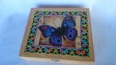 Caixa MDF com divisões internas para aneis, brincos e miudezas. Com decoupage e pintura by Sueli Pessoa - Plick Ateliê (SP - 011-37156733) - VENDIDO!!!!