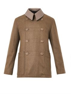 Christophe Lemaire Double-breasted wool-blend pea coat