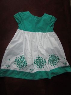 31cfd5ea6 Details about GYMBOREE green clover and white short sleeved dress, 3T,  matching green bloomers