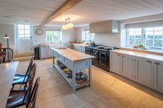 Traditional Grey Kitchen with Cotswold Stone Floor Multi Room Audio System, Handmade Kitchens, Stone Flooring, New Builds, New Kitchen, Home Goods, Construction, Traditional, Island