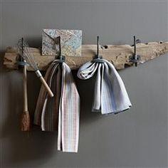 Porte-manteau bois flotté Kosta