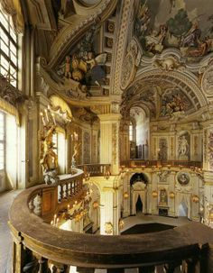 Baroque at The Palazzina di caccia of Stupinigi which is one of the Residences of the Royal House of Savoy in northern Italy, part of the UNESCO World Heritage Sites list. built 1729-33