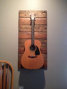 Music Studio Room Diy Guitar Hanger Ideas For 2019 Guitar Storage, Guitar Display, Storage Hooks, Wall Storage, Storage Ideas, Music Studio Room, Music Rooms, Guitar Hanger, Guitar Wall Holder