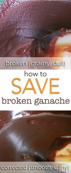 Oh My Gosh! Save My Ganache! How to Save a Broken Ganache. Don't waste all of that expensive ganache, we can save it in a couple easy steps! via /karascakes/ Hot Fudge Cake, Hot Chocolate Fudge, Chocolate Recipes, Fudge Recipes, Frosting Recipes, Dessert Recipes, Cake Recipes, Cake Decorating Techniques, Cake Decorating Tutorials