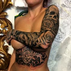 Sleeve and under on tattoo I did