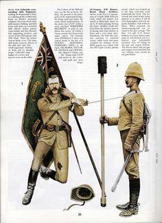 BRITISH ARMY - 1)Lt Coronel Galbraith, commander 66th Regiment - 2) Gunner, E/B Battery, Royal Horse Artillery