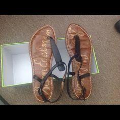 Sam Edelman Gigi Sam Edelman Gigi sandals in black leather, size 7. BRAND NEW. Got them at zappos.com with full price. Sam Edelman Shoes Sandals