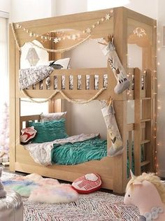 We designed our Terrace Bunk Bed with style from top to bottom. Of course, we're referring to the top and bottom bunks. The scalloped detail adds a touch of playfulness to the elegant design. And the sturdy construction means it'll last for years to come. Not only that, this stunning piece is made to look like it's built right into the wall. Available in an easy-to-coordinate whitewash finish.
