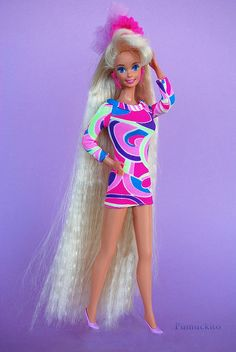 Barbie Totally Hair 1991 - totally had this barbie :)