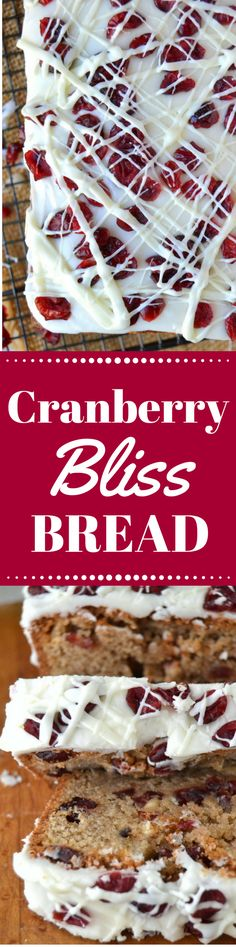 This Better Than Starbucks Cranberry Bliss Bread has all the bells and whistles of the original bars, but in an irresistible pound cake form. Skip the coffee shop and stay home and bake! ~ theviewfromgreatisland.com