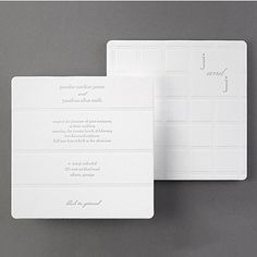 Couture luxury wedding invitations featuring letterpress printing, thick white premium paper, painted edges and rounded corners.  Classic, elegant styling