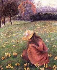 Lucien Pissarro, Les crocus, 1891