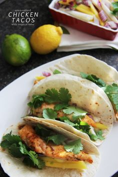 Spice Rubbed Chicken Tacos with Tropical Salsa