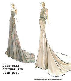 Elie Saab, Couture, F/W 2012-13  from PintuckStyle.blogspot.com
