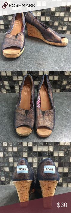 057e590b2f3e Toms iridescent purple wedges Gorgeous women s Toms wedges. These shoes are  a purple and gold